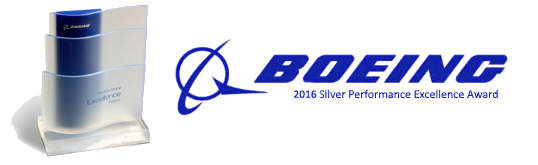 Silver Boeing Performance Excellence Award 2017